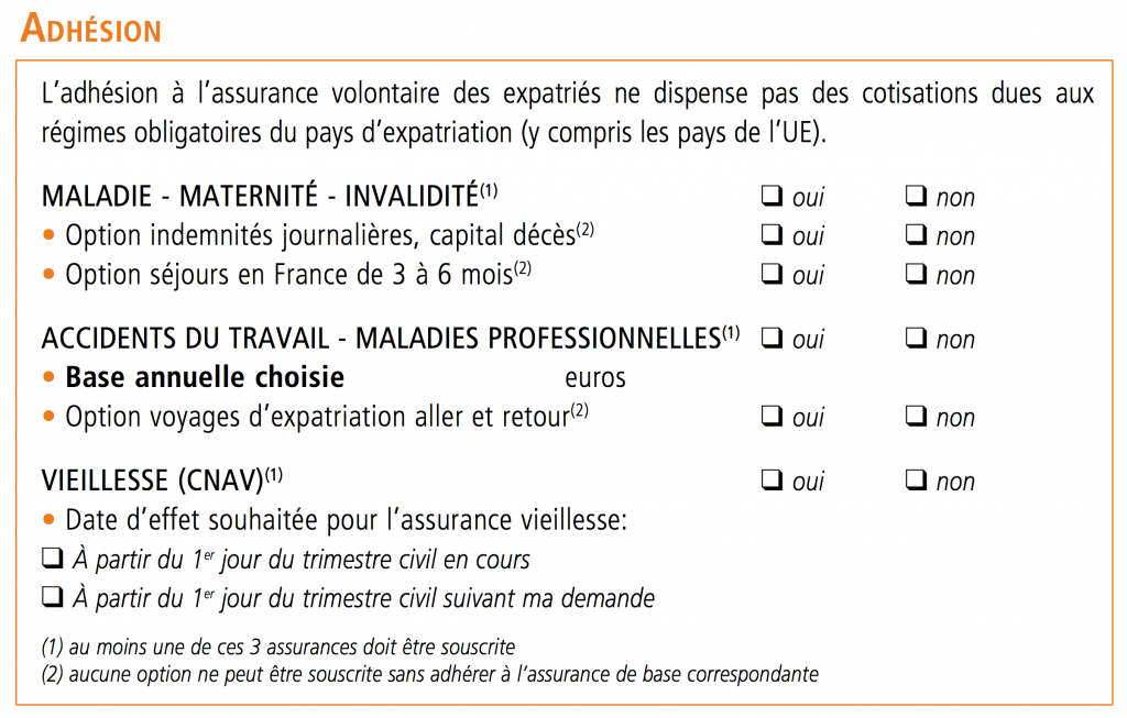Bulletin d'adhésion CFE - 05 Adhésion
